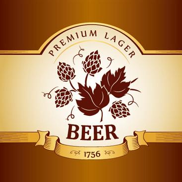 retro beer creative poster vector