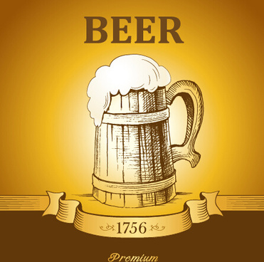retro beer creative poster vector