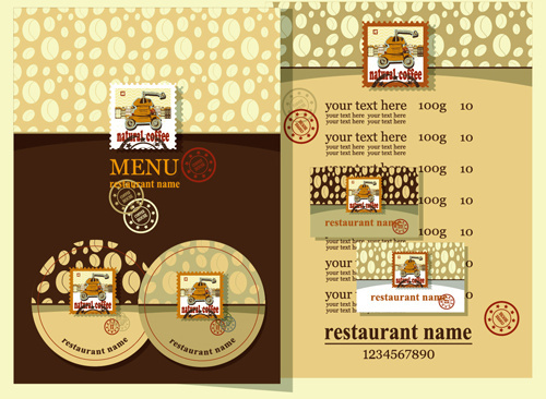 retro beer menu cover with price list vectors
