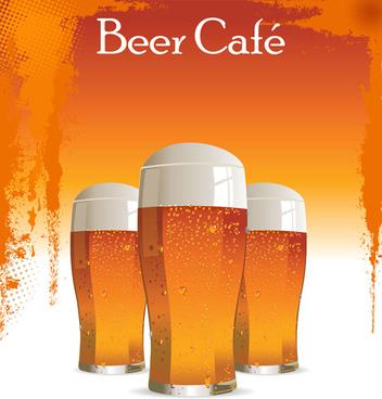 Retro Beer Poster Desgin Elements Vector
