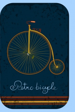 retro bicycle background big wheel small wheel ornament