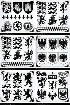 retro black and white graphic pattern vector