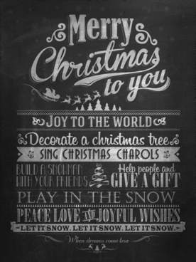 retro black christmas background vector