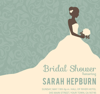 retro bride wedding poster vector