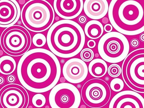 retro circles background