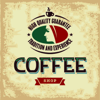 retro coffee advertising posters vector