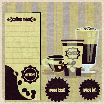 retro coffee advertising posters vector