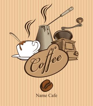 retro coffee creative poster vector