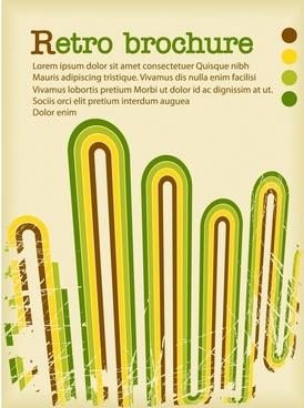 brochure background template retro colorful bending lines decor