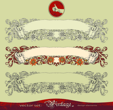 retro decorative frames with borders vector art