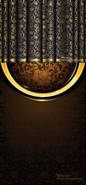 retro decorative pattern background vector graphic