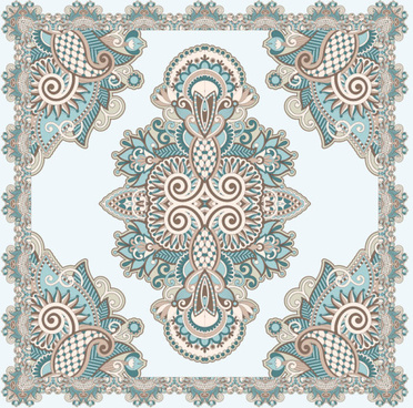 retro decorative pattern frames and borders vector