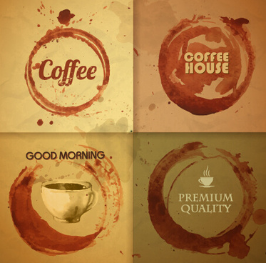 retro design coffee label vector