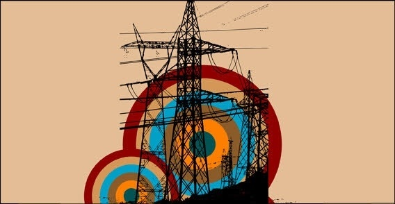 Retro electric tower free vector graphics