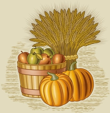 retro farm harvest 05 vector