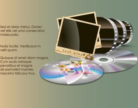 retro film 03 vector