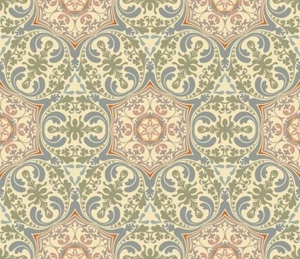 retro floral 03 vector