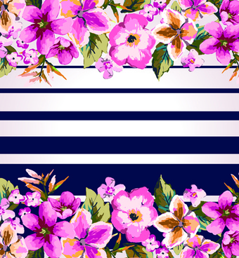 retro floral background graphic