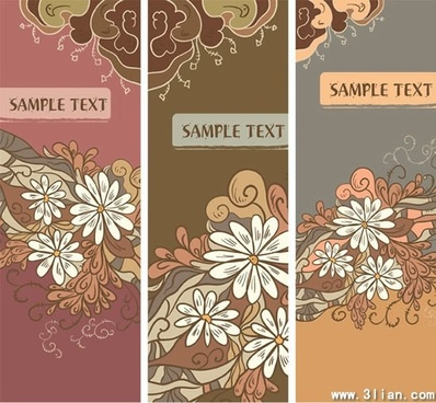 floral card templates colored classical petals decor