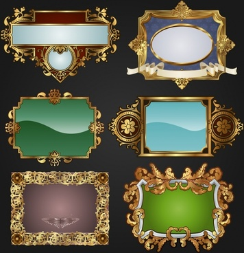 retro frames and labels vector