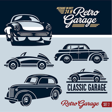 retro garage logos creative design