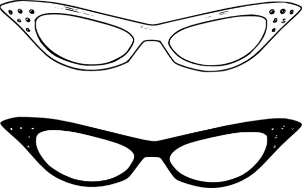 Retro Glasses clip art