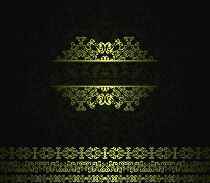 retro golden ornaments background