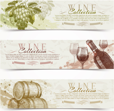 retro grapes banner design vector