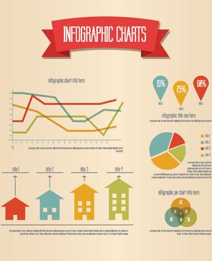 retro infographic vector graphic