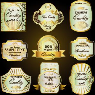 retro label luxury design vector