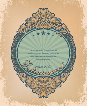 label template elegant retro symmetric decor