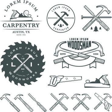 retro labels and emblems set vector