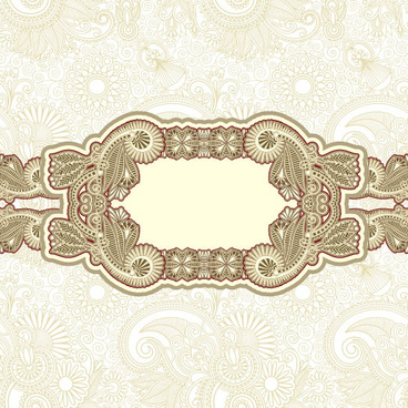 retro lace decoration frames vector