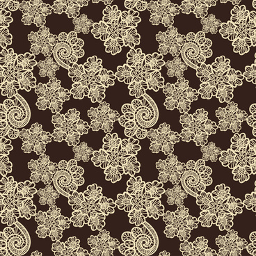 retro lace ornament pattern seamless vector