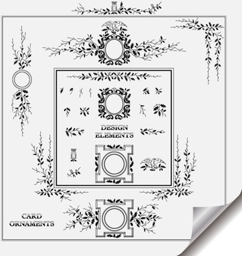 retro lace pattern 01 vector