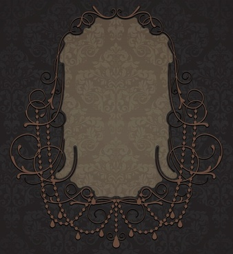 frame template flat elegant symmetric classic dark decor