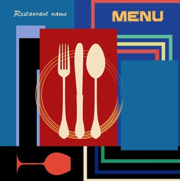 retro menu posters 02 vector