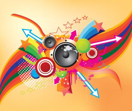 retro music vector graphic