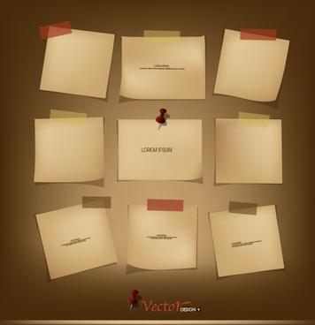 retro paper labels vector