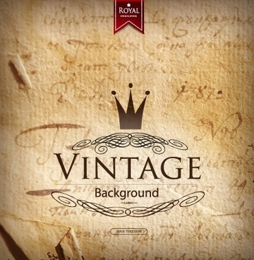 retro parchment grunge background vector