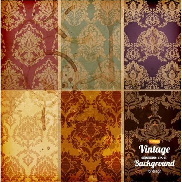 retro pattern background 01 vector