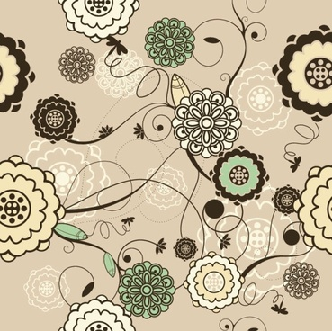 retro pattern background 03 vector