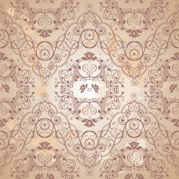 decorative pattern elegant retro european symmetric seamless