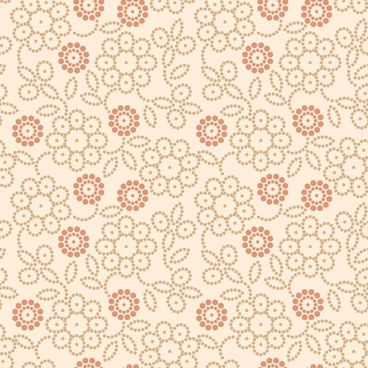 floral pattern template flat classical sketch