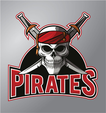 retro pirates logo vector