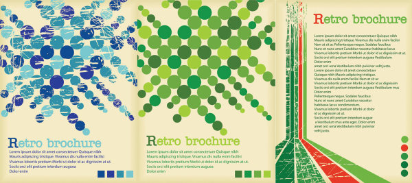 retro poster background vector graphics