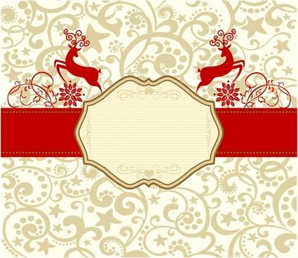 Retro Reindeer Banner