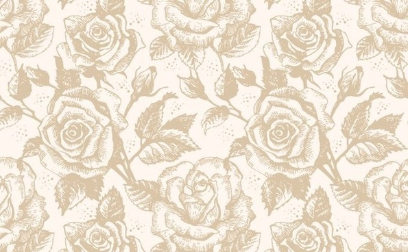 roses background retro repeating design