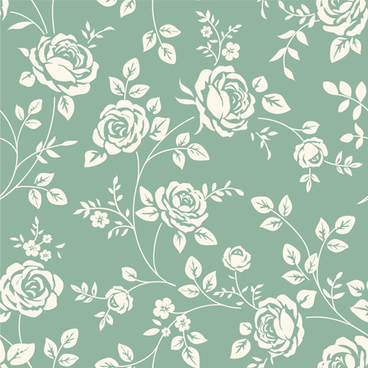 retro roses seamless patterns design vector