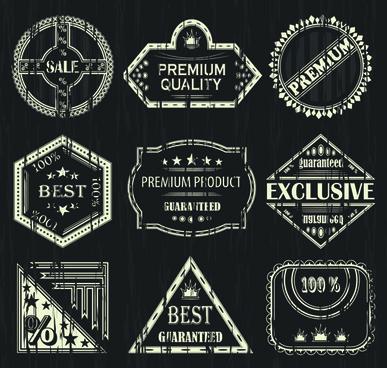 retro sale labels desing